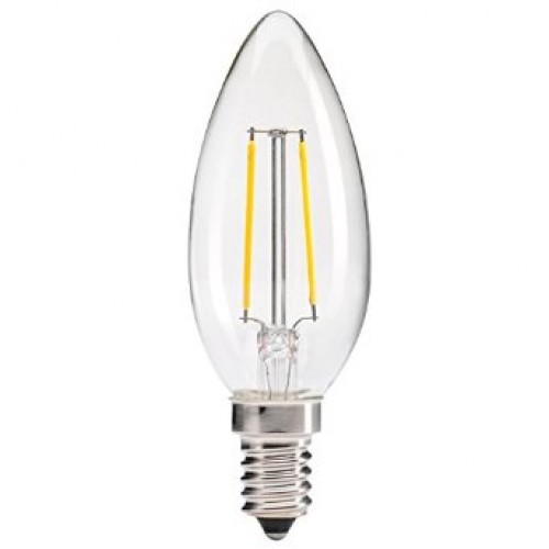 4w LED Filament Candle Lamp - E14 Warm White
